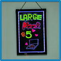 Outdoor 50*70 remote control RGB 5050 tempered led neon written advertising beer signs for restaurants advertising