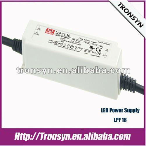 MEANWELL LED Driver 16W 42V single output constant voltage with PFC /LPF-16-42 /LPF-16-42UL/CB/CE