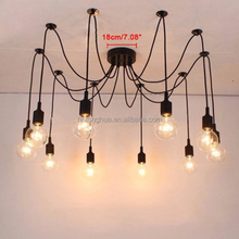 10 Head Colorful Silicone Pendant Lamp Chandelier Hanging Light