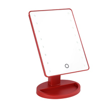 Factory sales led makeup mirror for bedroom and led desktop mirrors with touch screen sensor switch cheap plastic mirror