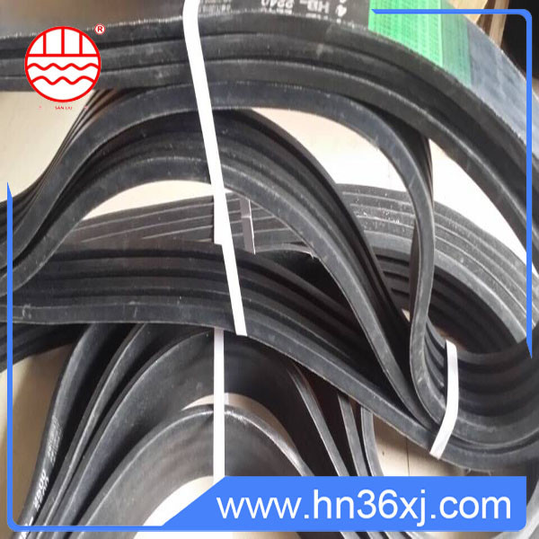 Sanliu Brand cr high quality low cost banded three v-belt for selling
