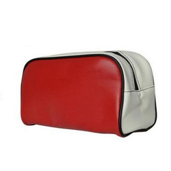 China factory promotional fashion travel make up bag/pu leahter cosmetic bag