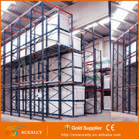 2016 cheap warehouse steel frame storage racking used pallet rack beams