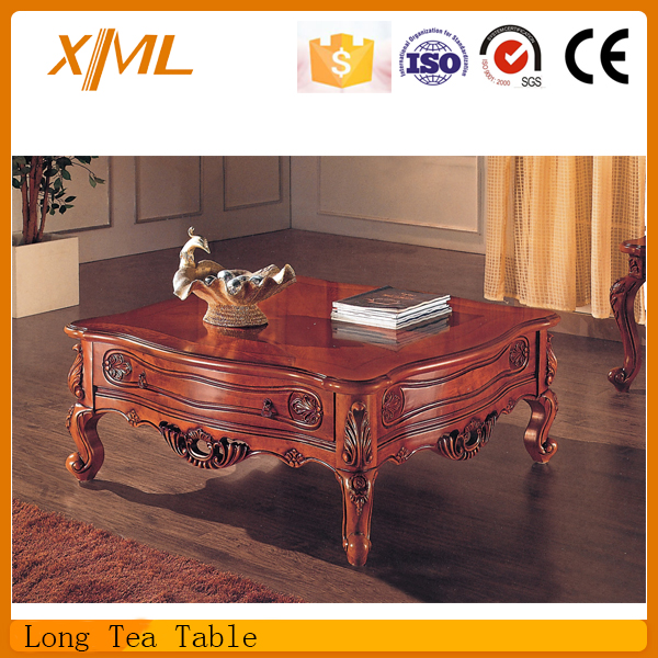 luxury living room rectangle HDF coffee table/tea table