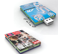Customized book shape USB Flash Drives 64GB with high quality