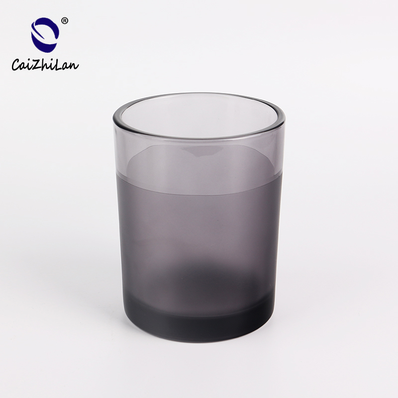 Spraying color candle holder candle jar glass,Customized Candle Jar Glass,Decorating Candle Holders