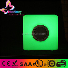 Portable vibration bluetooth speaker led