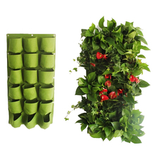 Garden Planter Multi Pockets Wall Mount Living Growing Bag Felt Indoor
