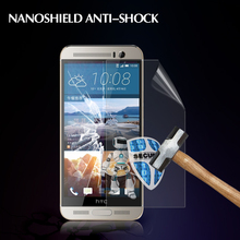 the clear super screen protector Nanoshield anti-shatter screen film for HTC one M9 plus