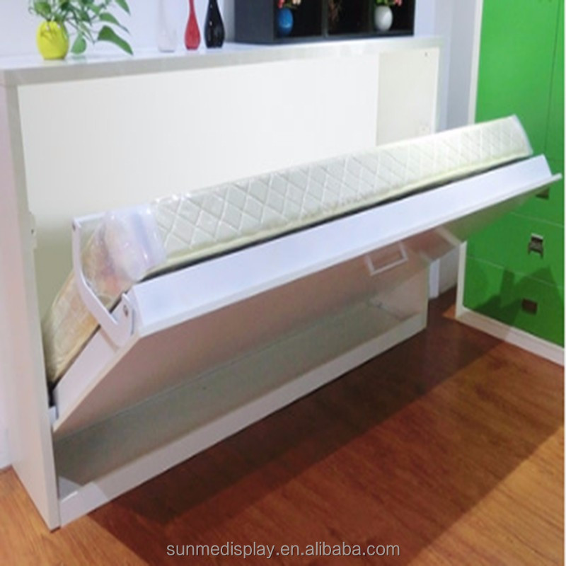 wholesale popular custom made wooden horizontal wall <strong>bed</strong> murphy <strong>bed</strong>