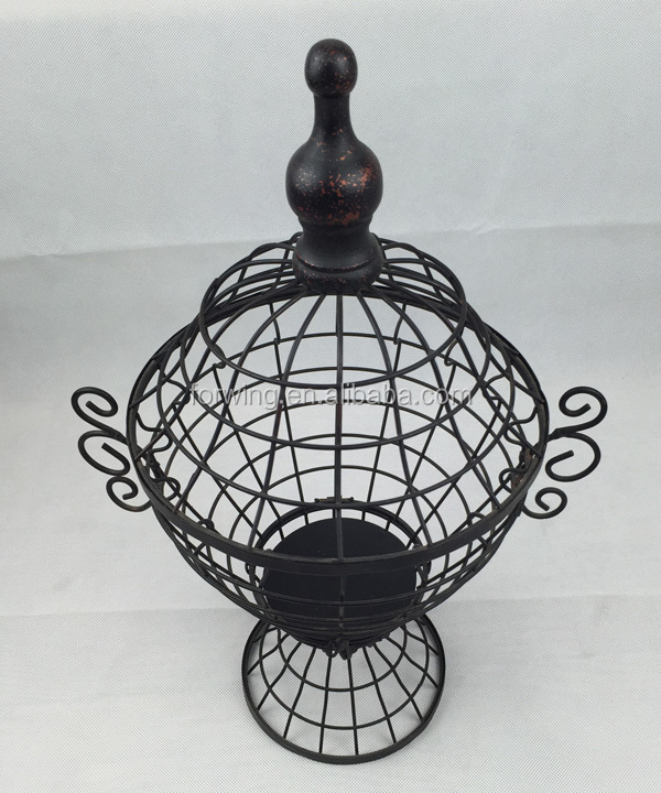 Metal basket bird cage for wedding home and garden decoration