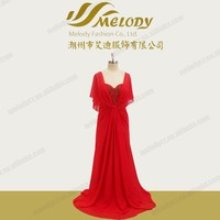 Red 2016 china style beaded long length zipper plus size cocktail gown dress