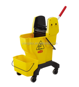 Down press deluxe mop wringer bucket