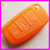 Sourcingbay silicone skin car remote fob shell key holder case cover for Audi A6L Q7 TT R8 A3 A4L