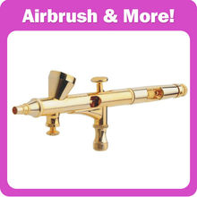 Gold Plating Double Action <strong>Airbrush</strong> with Air Regulator At The Head to Control the Airflow 0.2-0.3mm Nozzle