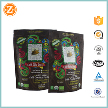 Customized Tin Tie Coffee Bean Bag / Aluminum Foil Side Gusset Quad Seal Packaging Coffee Bag with zipper