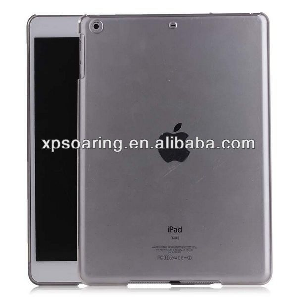for ipad 5 clear hard PC case back cover