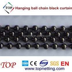 Large 10mm shiny beads hanging ball chain black curtain