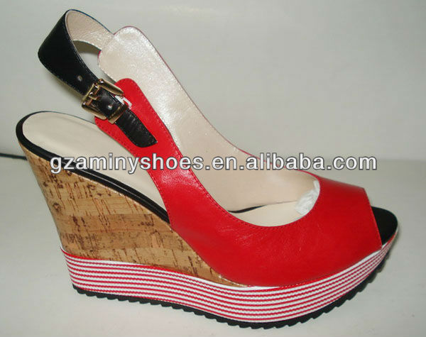 2013 Latest ladies wedge sandals
