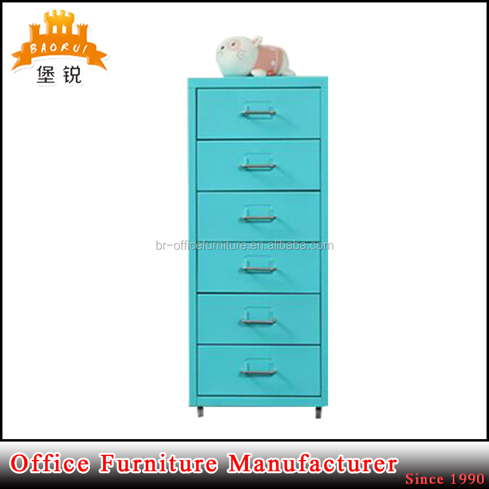 BAS-117 luoyang custom made steel furniture office file cabinet divider home 6 drawer storage cabinet