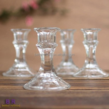 4 Inch Tapered Glass Candle Holder