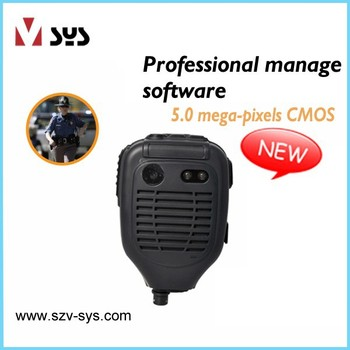 5 Mpx CMOS 120 degree PTT function one-touch recording encryption techniques law enforcement recorder