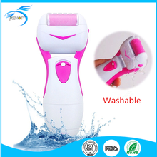 Washable rechargeable electronic foot callus remover machine/tool with 2 replaceable rollers