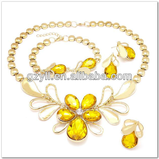 Wholesale fashion 18 carat gold jewelry sets African wedding jewelry