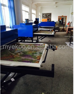 large double side station format skateboard sublimation transfer pneumatic heat press machine
