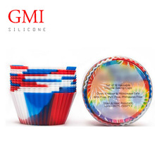 non-stick reusable bakeware mini silicone muffin baking cup liners cupcake baking cake mold