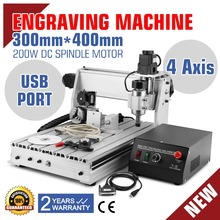 New CNC USB 3040T Router Engraver/Engraving Drilling and Milling Machine 4Axis Carving cutting tool