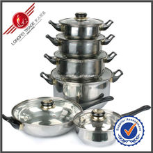 High quality 6pcs magnetic non-stick stainless steel cookware set