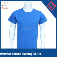 Wholesale plain poly cotton blank t shirt