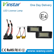 One day delivery E-mark led license plate lights for TT, TTS, TTRS