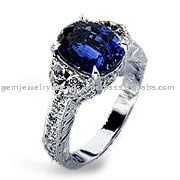 New Design Amethyst Handmade White Gold Diamond Ring Fine Quality Jewellery