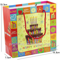 decrotive paper bag for happy birthday