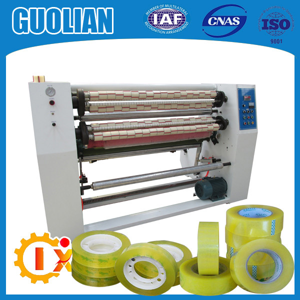 GL-215 Bopp adhesive packing tape slitting rewinding machine