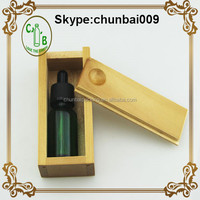 wooden packing box for 30ml glass dropper bottles wholesale with child and tamper proof cap for e-juice