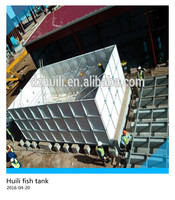 Flange Connection and rectangular,square Shape big FRP sectional panel fish water storage tank