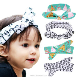 Gorgeous Knotted Baby Hair Accessories Elastic Rabbit Ears Headband