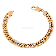 Wholesale Wristwear Gold Or Rose Gold Chunky Cuban Curb Link Chain Bracelet & Bangles Men