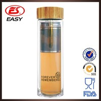Wholesale EG505 New 450ml custom promotional sexy glass travel tea bottle with lid &tea filter