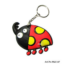 Hot selling ladybug design soft PVC keychain