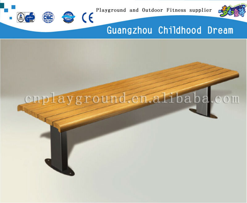(HD-19903)Wooden public seating bench Garden Park use Outdoor Seating Cast Iron Nature Wood Benches