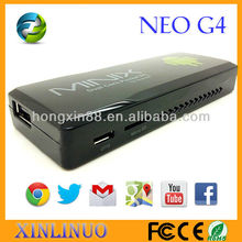 New NEO G4 MINIX Dual Core Android Mini PC RK3066 A9 Dual Core Stick TV Dongle with Remote Control