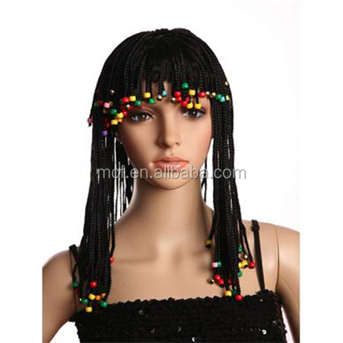 MCW-0395 Party Egyptian Queen Cleopatra Elizabeth braided Hair wig,Cleopatra wig