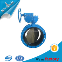 EPDM seat wafer type worm gear 4 inch butterfly valve