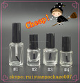 square clear nail polish bottles 7ml 10ml 15ml empty glass small bottles