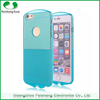 Factories in guangzhou half color Transparent soft TPU waterproof flexible case cover for iPhone 6S/ 6/ plus