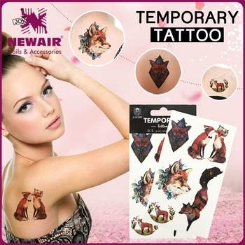 Newair new fashion water proof lady butterfly temporary tattoo design